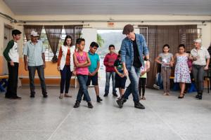 Grupo da oficina de dança - Foto: Leo Laps