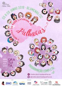 mostra rede catarina de palhaças 2019 - cartaz web