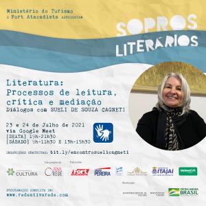 SOPROS LITERÁRIOS - Flyer Sueli Cagneti