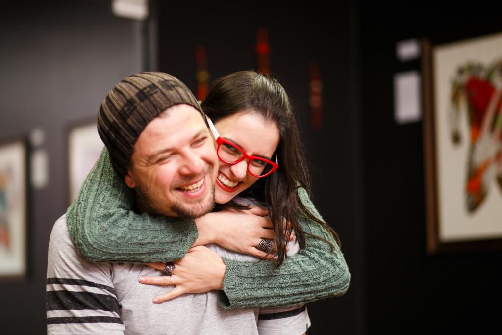 Casal de artistas Mauricio Huber e Natália Curioletti - Foto: Larissa Floriani